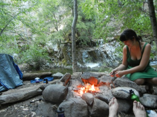 campfire, big sur, sykes hot springs